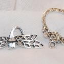 Antik ezüst színű Szitakötő T-kapocs, Csat, karika, zár, Alkotók boltja