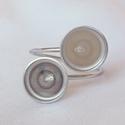 Nemesacél gyűrű alap (8-12/10-10/8-10mm), Gyöngy, ékszerkellék, Egyéb alkatrész, Nemesacél, dupla kabosonos gyűrű alap.  Belső átmérő:  A) 8-12mm   B) 8-10mm  Rendeléskor a megjegyz..., Alkotók boltja