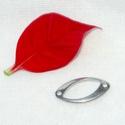 Nemesacél összekötő elem (21mm), Gyöngy, ékszerkellék, Egyéb alkatrész, Nemesacél összekötő elem. Hosszúság: 20,8 mm Szélesség: 10,6 mm Lemez vastagság: 1,4 mm Lyuk átmérőj..., Alkotók boltja
