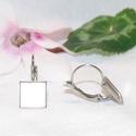 Nemesacél franciakapcsos fülbevaló alap (9,6 mm), Gyöngy, ékszerkellék, Egyéb alkatrész, Nemesacél franciakapcsos fülbevaló alap. Belső átmérő: 9,65 mm Lemez vastagság: 0,2mm  A nemesacél e..., Alkotók boltja
