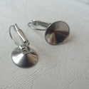 Nemesacél franciakapcsos rivoli fülbevaló alap (12 mm), Gyöngy, ékszerkellék, Egyéb alkatrész, Alkotók boltja