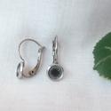 Nemesacél franciakapcsos fülbevaló alap (6 mm), Gyöngy, ékszerkellék, Egyéb alkatrész, Nemesacél franciakapcsos fülbevaló alap (szűkülő peremmel).  Belső átmérő: 6,4mm Lemez vastagság: 0,..., Alkotók boltja