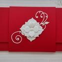 Menyecsketánc boríték, Esküvő, Naptár, képeslap, album, Ajándékkísérő, Nászajándék, Papírművészet, Késztermék, azonnal viheted :) Gyönyörű piros kartonból készült pénzátadó boríték menyecsketánc alk..., Meska