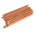 12 db-os bambusz horgolótű készlet, Szerszámok, eszközök, Eszköz kötéshez, horgoláshoz, Kötés, horgolás, 12 db-os bambusz alapanyagú horgolótű készlet, 3-10 mm, vannak benne feles számok is., Alkotók boltja