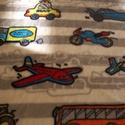 Járműves babysoft 2., Textil, Pamut, Varrás, Textil, Gyönyörű szürke alapon színes járműves pihe puha anyag.  Mérete: 100 x 75 cm, Alkotók boltja