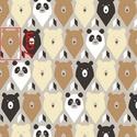Mackós, panda macis pamut textil, Textil, Pamut, Varrás, Az ár egy 55 X 30 cm-es pamut textil darabra vonatkozik.  Több darab vásárlásánál, egyben hagyom az..., Alkotók boltja