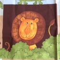 Safari majmos, oroszlános, zsiráfos pamut textil, Textil, Pamut, Varrás, Safaris pamut textil  98 cm x 140 cm darab, egyben eladó.   Személyes átadás Budapesten a II. kerül..., Alkotók boltja