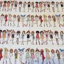 Lányok, divat, buli, csajok- színes designer pamut textil , Textil, Pamut, Varrás, Az ár 2 sor lány 88 x 32 cm -es darabra vonatkozik. Amennyiben többet rendelsz egyben hagyom az any..., Alkotók boltja