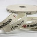 Handmade feliratos textil szalag - ( Kézzel készült ), Textil, Szalag, pánt, Ékszerkészítés, Handmade feliratos textil szalag - (Kézzel készült).  Az ár 1 méter szalagra vonatkozik. Ha több mé..., Alkotók boltja