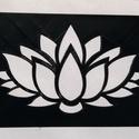 Stencil - minta - Lótusz virág, Dekorációs kellékek, Stencil minta - Lótusz virág  Mérete: 14,4 x 9,6 cm   Körülbelül 0,7 mm vastag.   Minimálisan..., Alkotók boltja