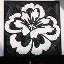 Stencil - minta - sablon - Virág, Dekorációs kellékek, Grafika, fotó, Decoupage, szalvétatechnika, Decoupage minták, Stencil minta - Virág  Mérete: 17,4 x 17, 6 cm   Körülbelül 0,7 mm vastag.   Minimálisan hajlékony,..., Alkotók boltja