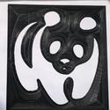 Stencil - minta - Panda, Dekorációs kellékek, Grafika, fotó, Decoupage, szalvétatechnika, Decoupage minták, Stencil minta - Panda  Mérete: 15 x 16 cm   Körülbelül 0,7 mm vastag.   Minimálisan hajlékony, mosh..., Alkotók boltja