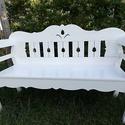 Fehér lóca, Fa, Bútor, Famegmunkálás, Egyéb fa, 160 cm széles, fehér lóca, Alkotók boltja