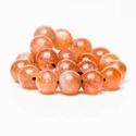 Napkő 7mm, 7A minőség, Gyöngy, ékszerkellék, Féldrágakő, Ékszerkészítés, Gyöngy, Napkő ásvány gyöngy alapanyag  - 7mm a gyöngy mérete - 7A a gyöngy minősége (az elérhető legmagasab..., Alkotók boltja
