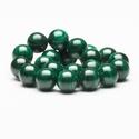 Malachit (Dark) 8mm, Gyöngy, ékszerkellék, Féldrágakő, Ékszerkészítés, Gyöngy, Malachit (Dark) ásvány alapanyag   - 8mm az ásványok mérete  - Kiváló alapanyag lehet egyedi ásvány..., Alkotók boltja