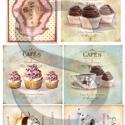 Vintage sorozat: Cafe de Paris, Papír, Decoupage papír, A 4-s méretű rizsnyomat, vékony 20 gr-s rizspapíron, découpage technikához. Az eredeti nyomatot vízj..., Alkotók boltja