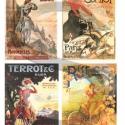 Plakát sorozat : Biciklis hölgyek, Papír, Decoupage papír, Decoupage, szalvétatechnika, Decoupage minták, A 4-s méretű rizsnyomat, vékony 20 gr-s rizspapíron, découpage technikához. Az eredeti nyomatot víz..., Alkotók boltja