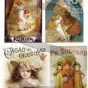Plakát sorozat : Csokiplakátok, Papír, Decoupage papír, A 4-s méretű rizsnyomat, vékony 20 gr-s rizspapíron, découpage technikához. Az eredeti nyomatot vízj..., Alkotók boltja