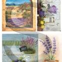Provence, Papír, Decoupage papír, A 4-s méretű rizsnyomat, vékony 20 gr-s rizspapíron, découpage technikához. Az eredeti nyomato..., Alkotók boltja