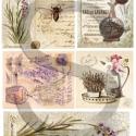Virág sorozat: Levendula , Papír, Decoupage papír, Alkotók boltja