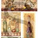 Toszkán olíva, Papír, Decoupage papír, A 4-s méretű rizsnyomat, vékony 20 gr-s rizspapíron, découpage technikához. Az eredeti nyomatot vízj..., Alkotók boltja