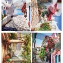 Akvarell sorozat: Görögország, Papír, Decoupage papír, A 4-s méretű rizsnyomat, vékony 20 gr-s rizspapíron, découpage technikához. Az eredeti nyomatot vízj..., Alkotók boltja