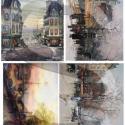 Akvarell sorozat: Paris, Papír, Decoupage papír, Alkotók boltja