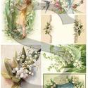 Virág sorozat: Gyöngyvirág, Papír, Decoupage papír, Decoupage, szalvétatechnika, Decoupage minták, A 4-s méretű rizsnyomat, vékony 20 gr-s rizspapíron, découpage technikához. Az eredeti nyomatot víz..., Alkotók boltja