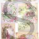 Viktoriánus rózsák, Papír, Decoupage papír, Decoupage, szalvétatechnika, Decoupage minták, A 4-s méretű rizsnyomat, vékony 20 gr-s rizspapíron, découpage technikához. Az eredeti nyomatot víz..., Alkotók boltja