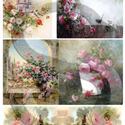 Akvarell sorozat: Rózsák, Papír, Decoupage papír, A 4-s méretű rizsnyomat, vékony 20 gr-s rizspapíron, découpage technikához. Az eredeti nyomatot vízj..., Alkotók boltja