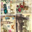 Vintage sorozat: London, Papír, Decoupage papír, Decoupage, szalvétatechnika, Decoupage minták, A 4-s méretű rizsnyomat, vékony 20 gr-s rizspapíron, découpage technikához. Az eredeti nyomatot víz..., Alkotók boltja