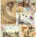 Romantikus utazások sorozat:London, Papír, Decoupage papír, A 4-s méretű rizsnyomat, vékony 20 gr-s rizspapíron, découpage technikához. Az eredeti nyomato..., Alkotók boltja