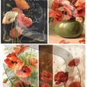 Virág sorozat: Pipacsok, Papír, Decoupage papír, Decoupage, szalvétatechnika, Decoupage minták, A 4-s méretű rizsnyomat, vékony 20 gr-s rizspapíron, découpage technikához. Az eredeti nyomatot víz..., Alkotók boltja