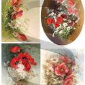 Akvarell sorozat:Mezei virágcsokrok, Papír, Decoupage papír, A 4-s méretű rizsnyomat, vékony 20 gr-s rizspapíron, découpage technikához. Az eredeti nyomato..., Alkotók boltja
