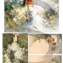 Akvarell sorozat:Margaréta, Papír, Decoupage papír, A 4-s méretű rizsnyomat, vékony 20 gr-s rizspapíron, découpage technikához. Az eredeti nyomato..., Alkotók boltja