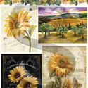 Virág sorozat: Napraforgó, Papír, Decoupage papír, A 4-s méretű rizsnyomat, vékony 20 gr-s rizspapíron, découpage technikához. Az eredeti nyomatot vízj..., Alkotók boltja