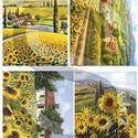 Akvarell sorozat: Napraforgók, Papír, Decoupage papír, Decoupage, szalvétatechnika, Decoupage minták, A 4-s méretű rizsnyomat, vékony 20 gr-s rizspapíron, découpage technikához. Az eredeti nyomatot víz..., Alkotók boltja