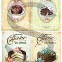 Vintage sorozat: Torták, Papír, Decoupage papír, A 4-s méretű rizsnyomat, vékony 20 gr-s rizspapíron, découpage technikához. Az eredeti nyomato..., Alkotók boltja