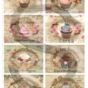 Vintage sorozat: Muffinok és rózsák, Papír, Decoupage papír, Decoupage, szalvétatechnika, Decoupage minták, A 4-s méretű rizsnyomat, vékony 20 gr-s rizspapíron, découpage technikához. Az eredeti nyomatot víz..., Alkotók boltja