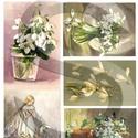 Virág sorozat: Hóvirág, Papír, Decoupage papír, Decoupage, szalvétatechnika, Decoupage minták, A 4-s méretű rizsnyomat, vékony 20 gr-s rizspapíron, découpage technikához. Az eredeti nyomatot víz..., Alkotók boltja