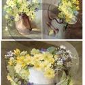 Virág sorozat: Tavaszi kankalincsokrok, Papír, Decoupage papír, Decoupage, szalvétatechnika, Decoupage minták, A 4-s méretű rizsnyomat, vékony 20 gr-s rizspapíron, découpage technikához. Az eredeti nyomatot víz..., Alkotók boltja