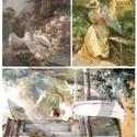 Akvarell sorozat: Galambokkal, Papír, Decoupage papír, A 4-s méretű rizsnyomat, vékony 20 gr-s rizspapíron, découpage technikához. Az eredeti nyomatot vízj..., Alkotók boltja