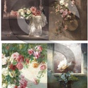 Akvarell sorozat: Rózsa-csendélet, Papír, Decoupage papír, Decoupage, szalvétatechnika, Decoupage minták, A 4-s méretű rizsnyomat, vékony 20 gr-s rizspapíron, découpage technikához. Az eredeti nyomatot víz..., Alkotók boltja