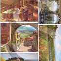 Akvarell sorozat: Toscana, Papír, Decoupage papír, Decoupage, szalvétatechnika, Decoupage minták, A 4-s méretű rizsnyomat, vékony 20 gr-s rizspapíron, découpage technikához. Az eredeti nyomatot víz..., Alkotók boltja
