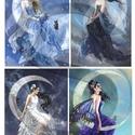 Fantasy sorozat : Holdtündérek, Papír, Decoupage papír, Decoupage, szalvétatechnika, Decoupage minták, A 4-s méretű rizsnyomat, vékony 20 gr-s rizspapíron, découpage technikához. Az eredeti nyomatot víz..., Alkotók boltja