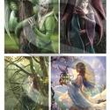 Fantasy sorozat : Sárkányok és tündérek, Papír, Decoupage papír, Decoupage, szalvétatechnika, Decoupage minták, A 4-s méretű rizsnyomat, vékony 20 gr-s rizspapíron, découpage technikához. Az eredeti nyomatot víz..., Alkotók boltja