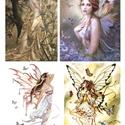 Fantasy sorozat : Pillangók és tündérek, Papír, Decoupage papír, A 4-s méretű rizsnyomat, vékony 20 gr-s rizspapíron, découpage technikához. Az eredeti nyomato..., Alkotók boltja