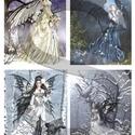 Fantasy sorozat : Erdei tündérek, Papír, Decoupage papír, Decoupage, szalvétatechnika, Decoupage minták, A 4-s méretű rizsnyomat, vékony 20 gr-s rizspapíron, découpage technikához. Az eredeti nyomatot víz..., Alkotók boltja