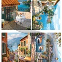 Akvarell sorozat: Olasz tóvidék, Papír, Decoupage papír, A 4-s méretű rizsnyomat, vékony 20 gr-s rizspapíron, découpage technikához. Az eredeti nyomato..., Alkotók boltja
