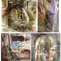 Akvarell sorozat: Provence, Papír, Decoupage papír, Decoupage, szalvétatechnika, Decoupage minták, A 4-s méretű rizsnyomat, vékony 20 gr-s rizspapíron, découpage technikához. Az eredeti nyomatot víz..., Alkotók boltja